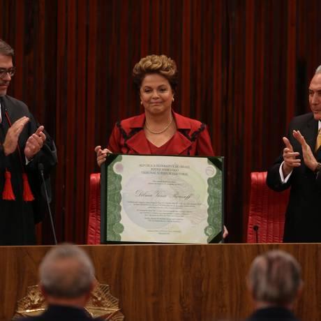 Cerimônia de diplomação da presidente Dilma Rousseff Foto: Ailton de Freitas / Arquivo/O GLOBO