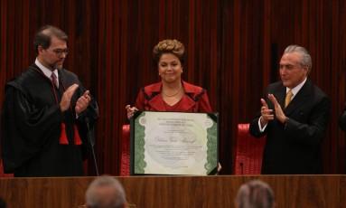 Cerimônia de diplomação da presidente Dilma Rousseff Foto: Ailton de Freitas / Agência O Globo