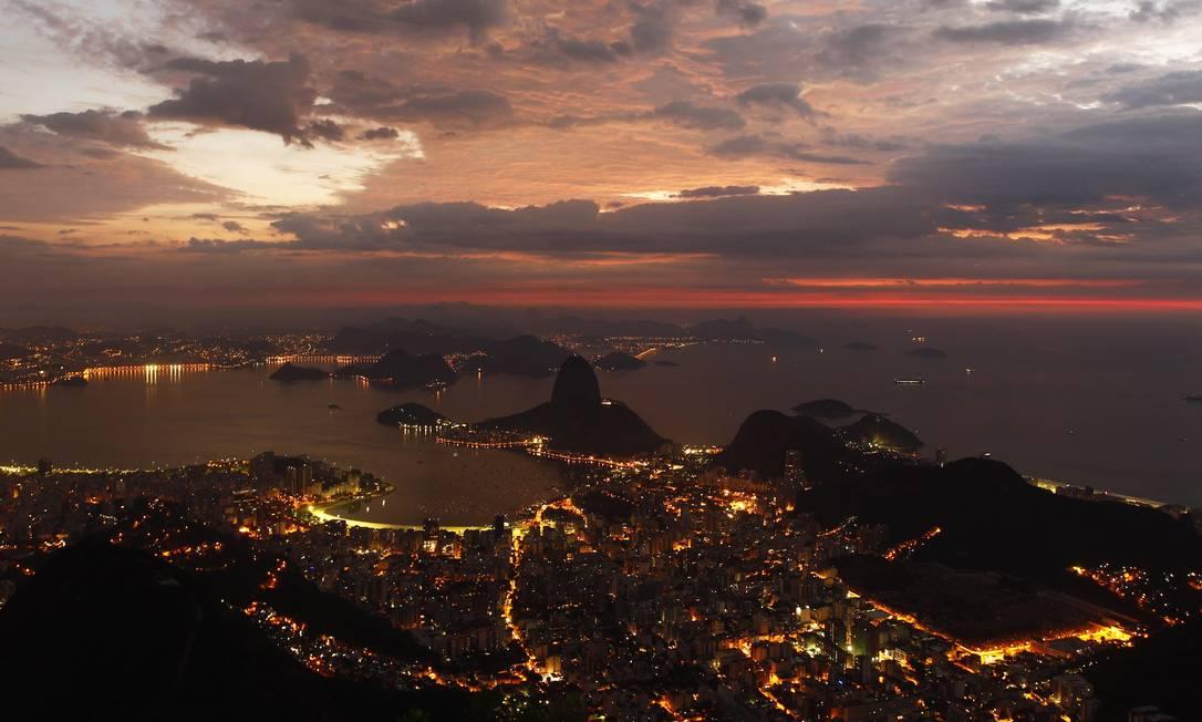 A cidade vista do Cristo Redentor Foto: Thiago Lontra / Agência O Globo