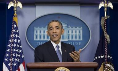 Obama: Cuba e economia na entrevista coletiva Foto: Carolyn Kaster / AP