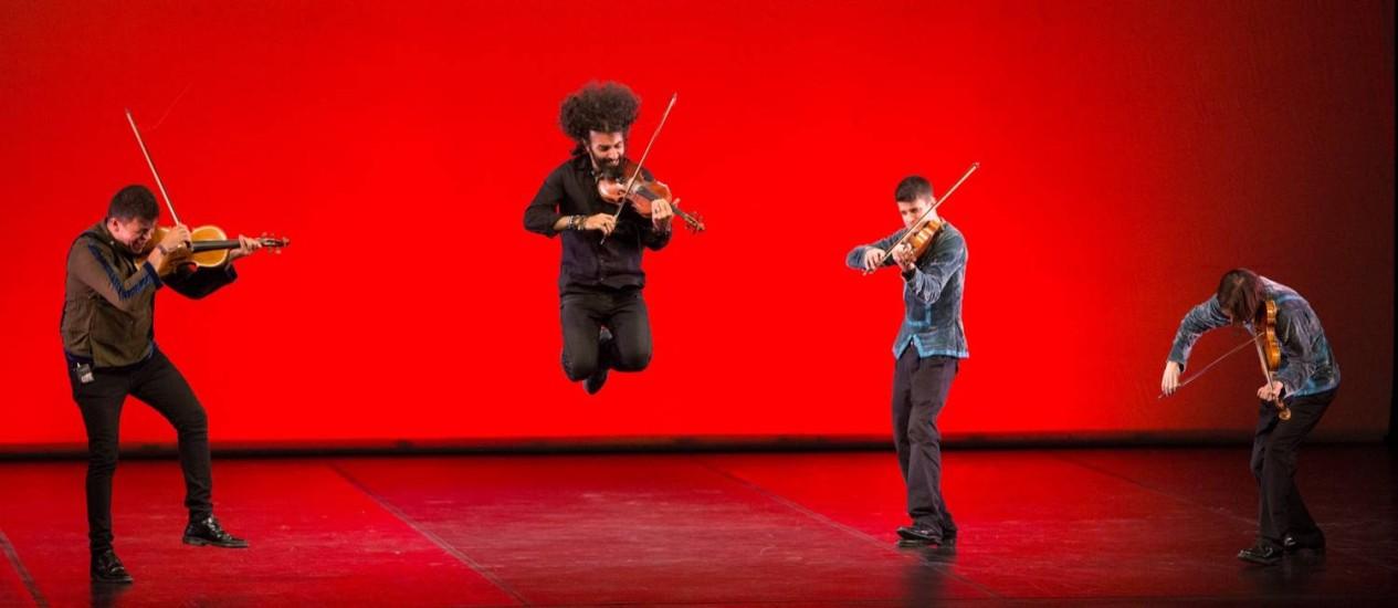 """Os músicos da Orquestra en el Tejado estão no espetáculo """"A+A"""" Foto: Divulgação / Divulgação"""