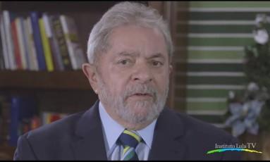 Em vídeo, Lula diz que governo não tem que esconder absolutamente nada Foto: Reprodução