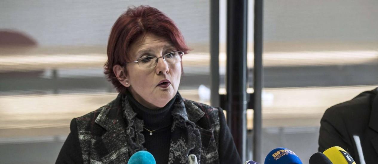 Promotora Marie-Christine Tarare negou que atroplemanto em massa em Dijon tenha sido ato de terrorismo religioso Foto: JEAN-PHILIPPE KSIAZEK / AFP