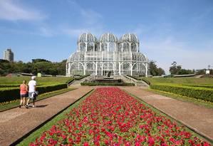 A estufa do Jardim Botânico, um dos símbolos arquitetônicos da capital Foto: Eduardo Maia / Agência O Globo