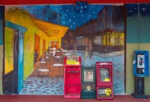 Mural que reproduz uma pintura de Van Gogh em Little Five Points Foto: Kevin C. Rose/AtlantaPhotos.com