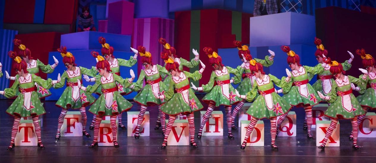 """Ensaio do """"Radio City Christmas Spectacular"""", musical protagonizado pelas Rockettes Foto: Divulgação / Avi Gerver/MSG Photos"""