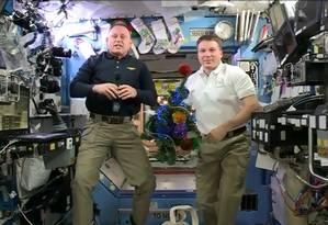 Barry Wilmore e Terry Virts na Estação Espacial Internacional Foto: Reprodução