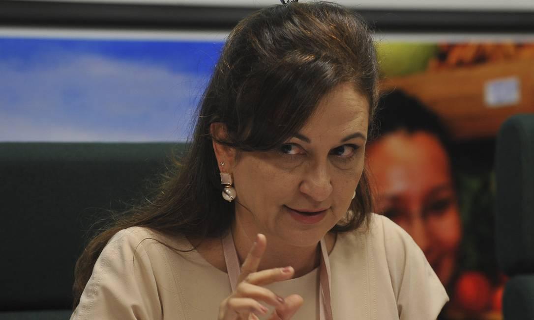 A senadora Kátia Abreu, presidente da Confederação da Agricultura e Pecuária do Brasil (CNA) fala sobre acordo firmado em cláusulas fundamentais do Código Florestal Foto: Valter Campanato / Agência Brasil
