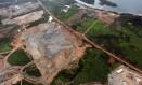 Vista aérea da usina de Belo Monte em 2012 Foto: Evaristo Sá / AFP