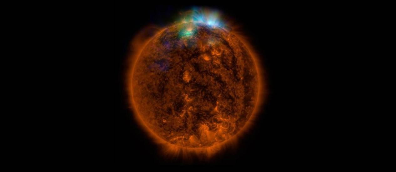 Imagem inédita do Sol, captada pelo NuSTAR Foto: FP PHOTO / HANDOUT / NASA/JPL-CALTECH