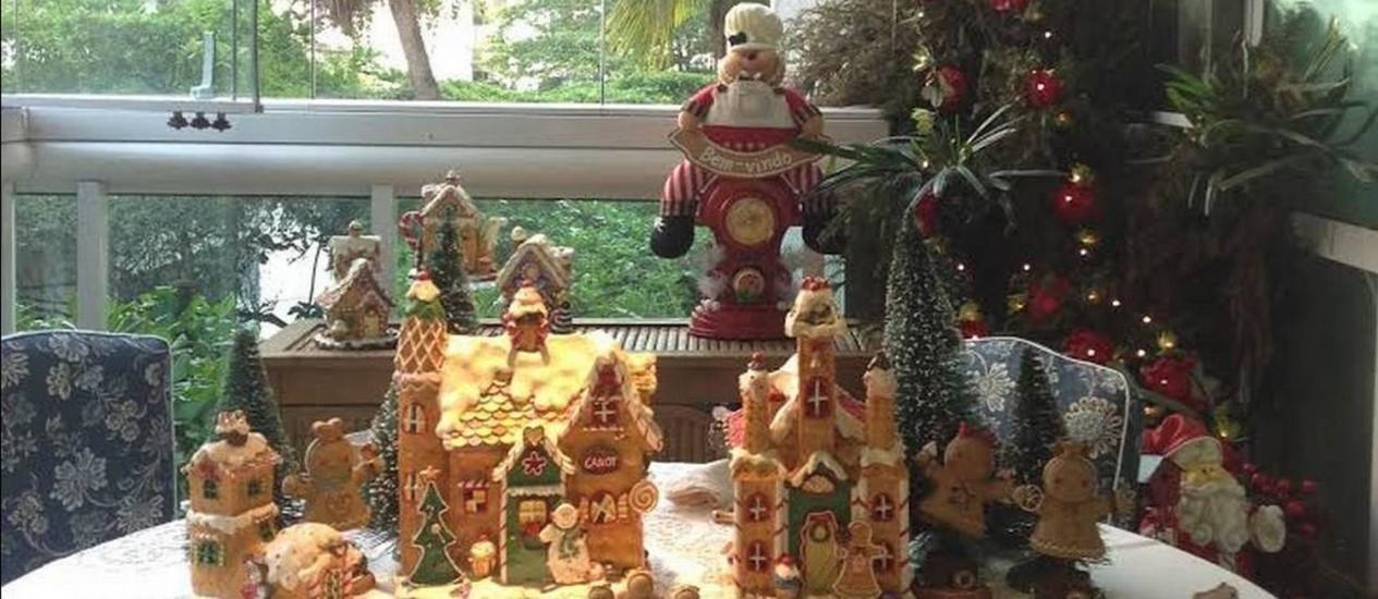 Mesa de café da manhã bem natalina Foto: Acervo pessoal