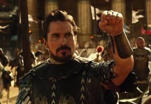 """O ator Christian Bale em cena de """"Êxodo — Deuses e reis"""" Foto: Divulgação / Divulgação"""
