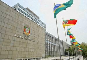 Porto Alegre: Palácio Farroupilha, sede da Assembleia gaúcha: a aposentadoria especial foi aprovada em novembro Foto: Galileu Oldenburg/Agência ALRS/26-12-2014