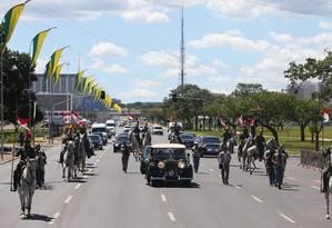 Simulação da cerimônia de posse de Dilma Foto: ANDRE COELHO / Agência O Globo
