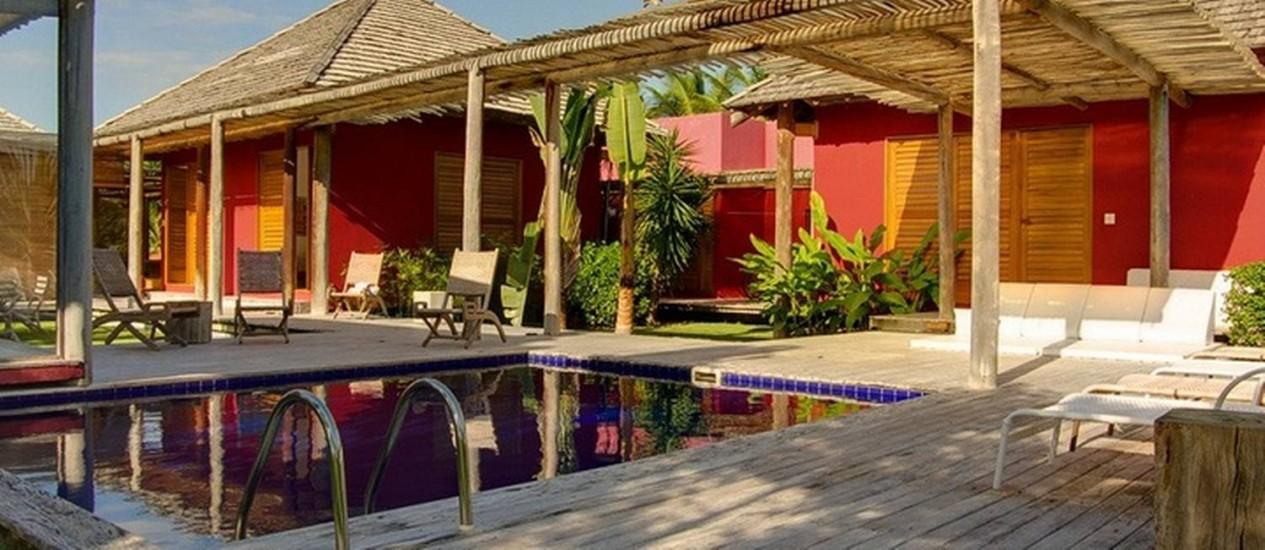 Casa em Trancoso, na Bahia, com cinco quartos, piscina e campo de golfe Foto: Alugue Temporada