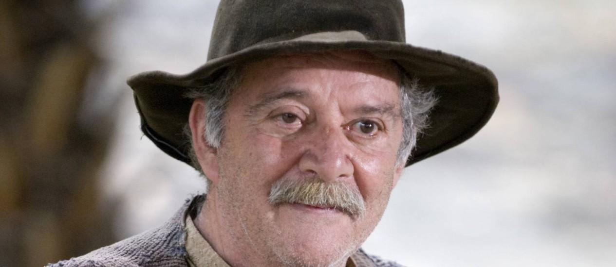 O ator Cláudio Marzo teve alta de hospital Foto: Sérgio Huoliver / Divulgação