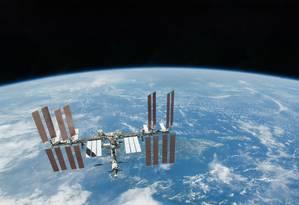 Estação Espacial Internacional: visível a olho nu no céu do Rio Foto: NASA / AP