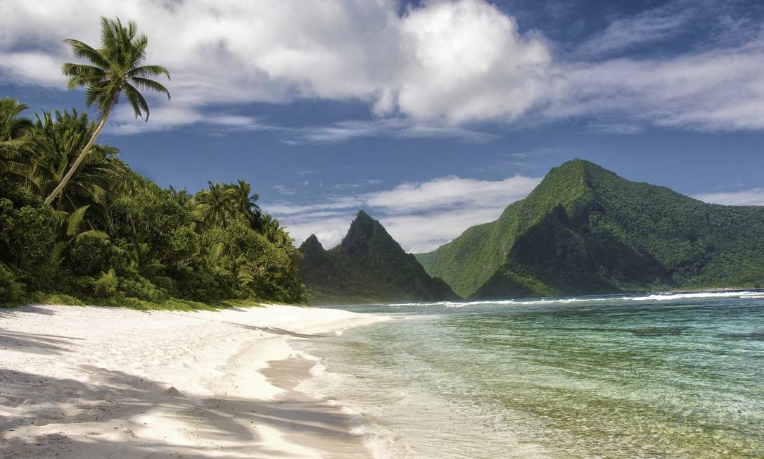 A praia de Ofu, na Samoa Americana, um dos últimos lugares a celebrar a chegada de 2015 Foto: nps.gov / Reprodução