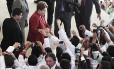 A presidente Dilma Rousseff participa da sanção da Lei que institui o Programa Mais Médicos