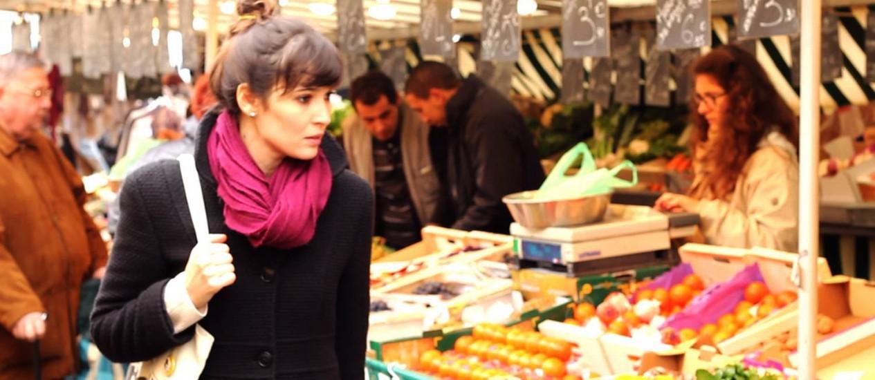 Uiara Araújo passei no mercado em Chantilly, nos arredores de Paris Foto: Arquivo pessoal