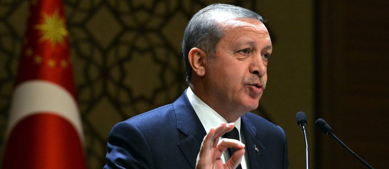 Recep Tayyip Erdogan: presidente foi alvo de ataque Foto: Turkish Presidential Press Service / AP