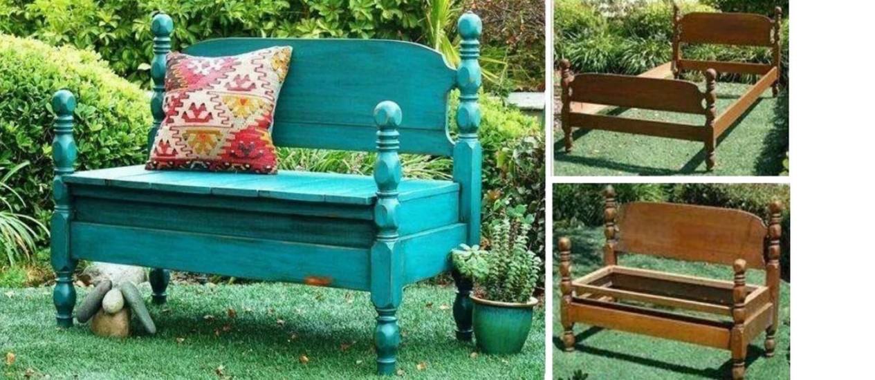 Como transformar uma cama em um banco Foto: Goods Home Design