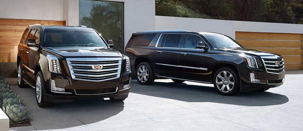 A SUV de luxo Escalade, da Cadillac, é um dos carrões que fazem sucesso entre os americanos Foto: Divulgação