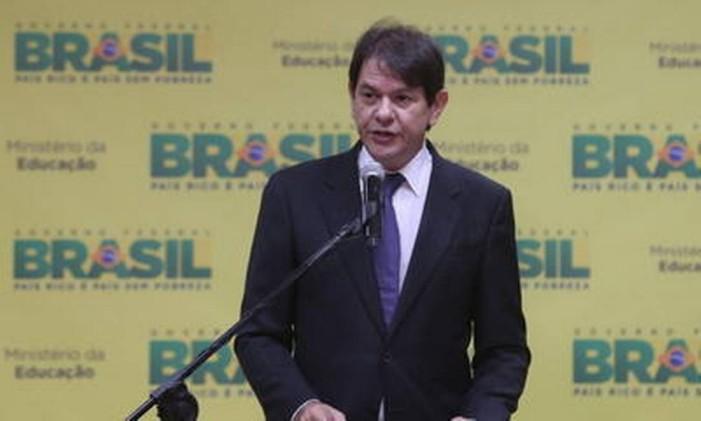 Cid Gomes toma posse no Ministério da Educação Foto: André Coelho / Agência O Globo