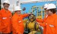 Gabrielli, Lula, Dilma e Wagner (encoberto) na inauguração do gasoduto em 2010: superfaturamento e empresa que existe só no papel