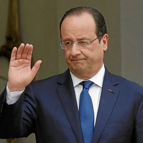 Retrato pouco elogioso. O presidente François Hollande: segundo ex-ministro da Economia, ele mente 'todo o tempo e desde o início' Foto: GONZALO FUENTES / REUTERS/23-5-2014