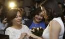 Karla Arguello e Catherina Pareto se casam em Miami, na Flórida: estado baniu proibição a casamentos gays Foto: Wilfredo Lee / AP