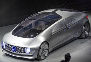 O modelo Mercedes-Benz F015 foi apresentado na Consumer Electronics Show (CES) in Las Vegas, Nevada Foto: David Paul Morris / Bloomberg