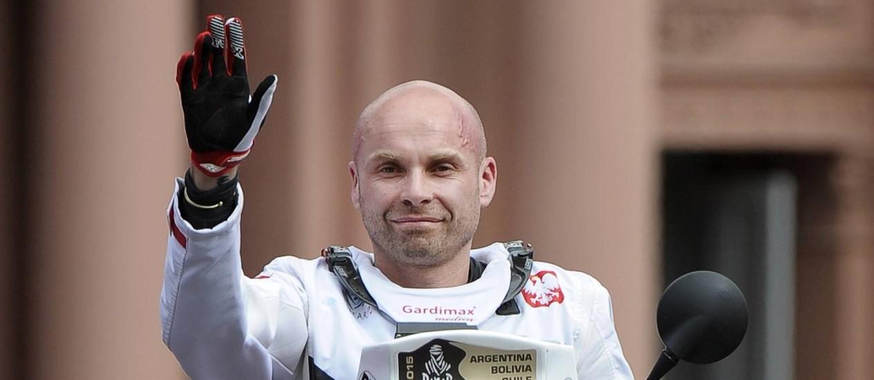 O polonês Michal Hernik, estreante no Rali Dakar, é encontrado morto na terceira etapa da prova. Alejandro Pagni/AFP
