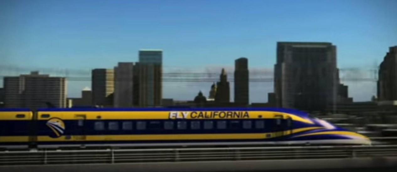 Transporte promete transportar passageiros de Los Angeles para San Francisco em menos de três horas Foto: Reprodução