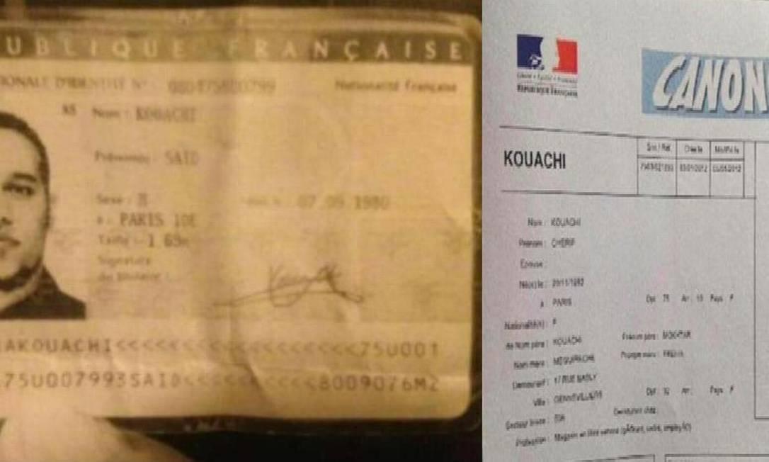 """Irmãos Saïd e Chérif Kouachi são suspeitos de ataque à redação do semanário """"Charlie Hebdo"""". Terceiro suspeito, Hamid Mourad se entregou à polícia na noite desta quarta-feira Foto: Reprodução/Internet"""