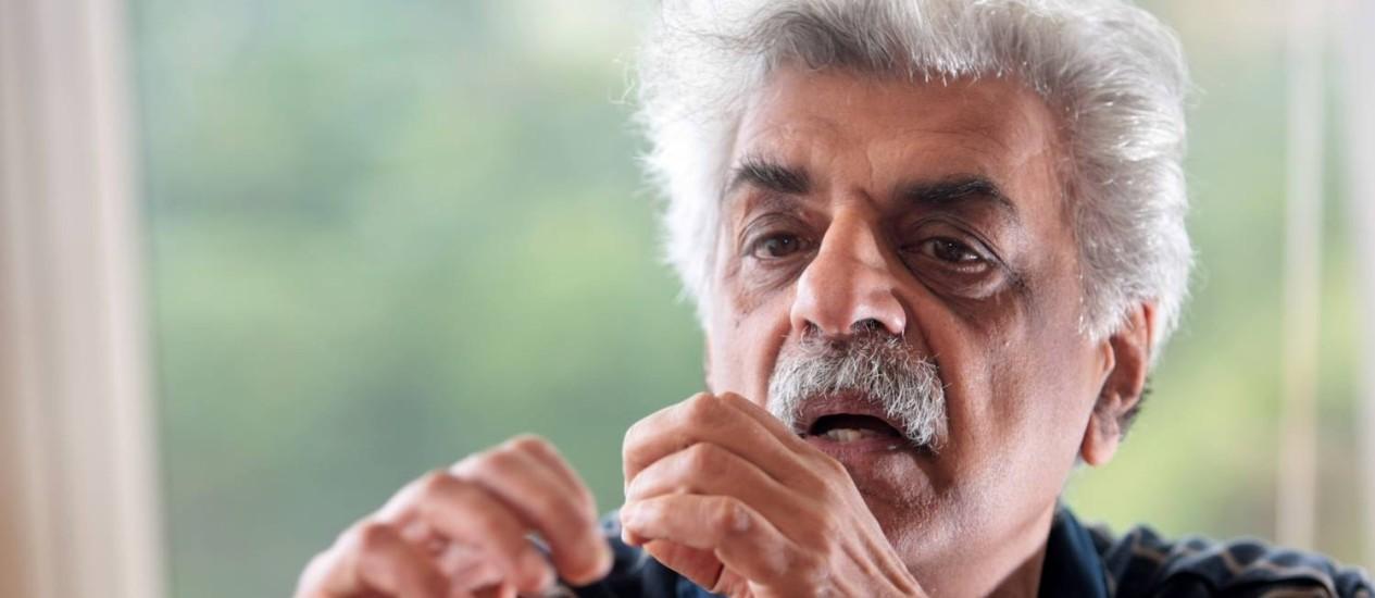 Entrevista com o escritor paquistanês Tariq Ali Foto: Pedro Kirilos