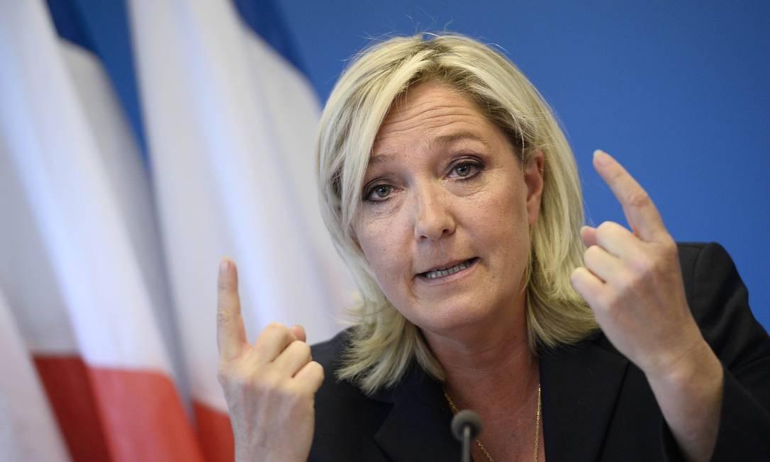Marine Le Pen direciona críticas aos muçulmanos Foto: STEPHANE DE SAKUTIN / AFP