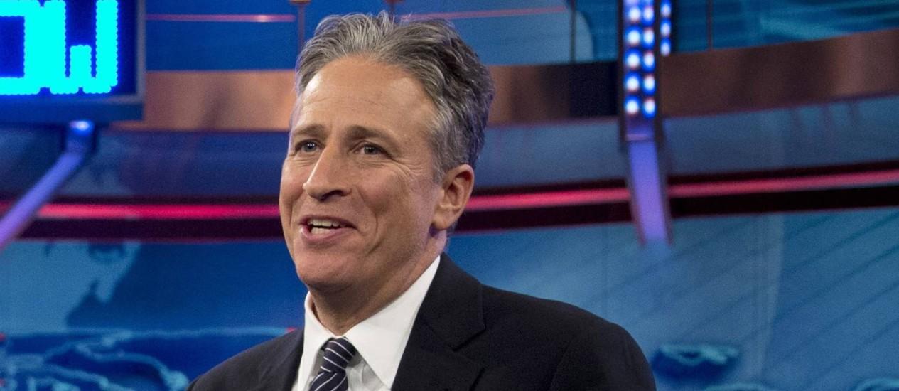 Jon Stewart tem o costume de abordar temas políticos em monólogos Foto: Carolyn Kaster / AP