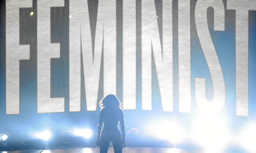 'Liberté, egalité, Beyoncé': Estrela americana promoveu a igualdade de gêneros em seus shows Foto: FilmMagic / Jason LaVeris