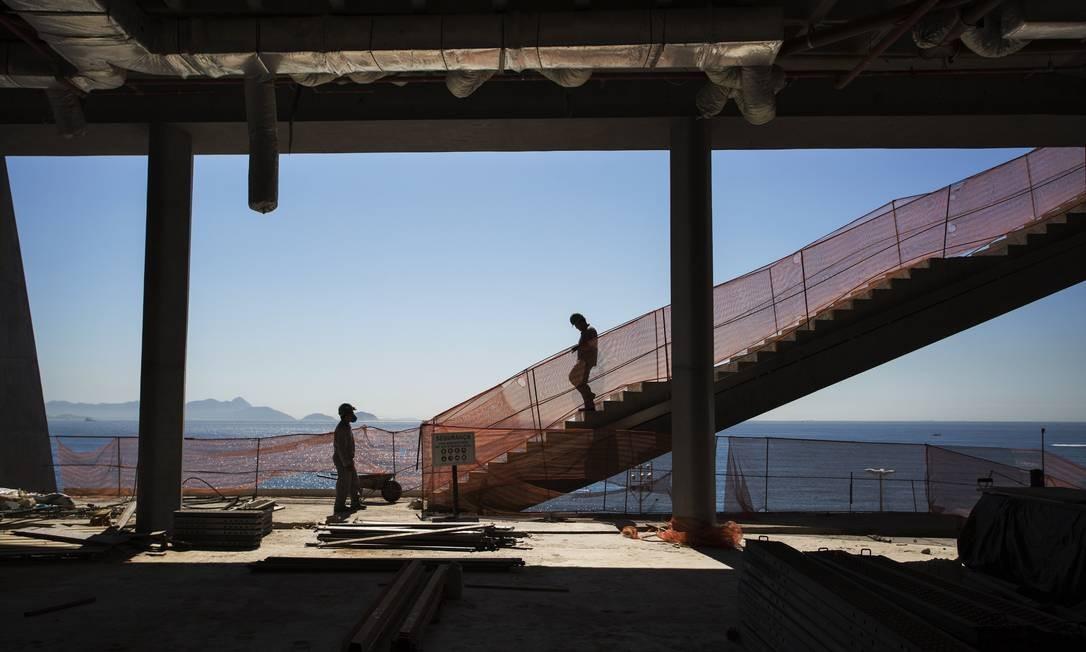 Depois de pronto, MIS permitirá a seus visitantes desfrutar de paisagem hoje só apreciada por poucos Foto: Ana Branco / Agência O Globo