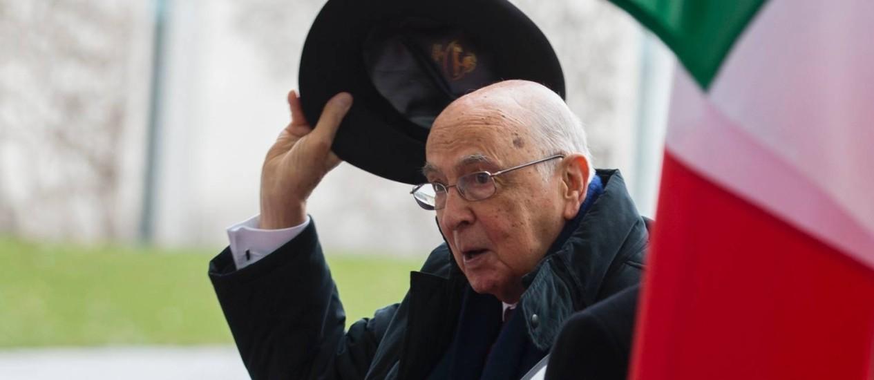 Giorgio Napolitano é ativo na política italiana desde 1945 Foto: Thomas Peter / Reuters