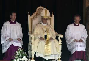 Papa Francisco celebra missa de canonização de José Vaz na capital Colombo Foto: Lakruwan Wanniarachchi / AFP