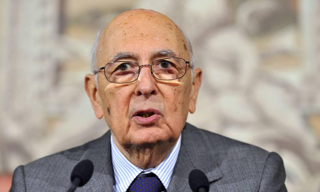 Giorgio Napolitano é presidente da Itália desde 2006 Foto: TIZIANA FABI / AFP