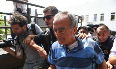 Nestor Cerveró no dia em que foi preso, em 14/01/2015 Foto: Geraldo Bubniak / AGB