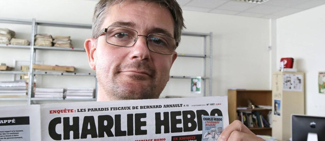 """Stéphane """"Charb"""" Charbonnier, editor do """"Charlie Hebdo"""", morto em ataque Foto: Michel Euler / AP"""