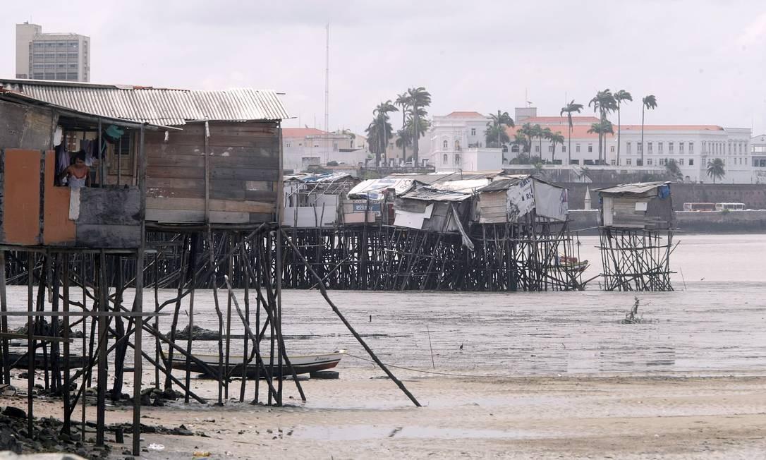 Favela de palafita Ilinha, em São Luís, no Maranhão: desigualdade persistente Foto: / Hans Von Manteuffel/10-1-2014