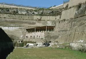 Ruínas da Villa Dei Papiri, na cidade antiga de Herculano, na Itália Foto: Latinstock / Science Photo Library