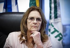Graça Foster, que renunciou ao cargo de presidente da Petrobras nesta quarta-feira Foto: Guito Moreto / Agência O Globo