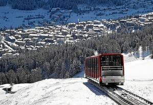 Davos. Um dos destinos pioneiros do turismo de inverno suíço Foto: Michel Euler / Michel Euler/AP