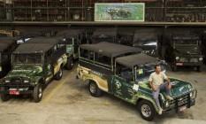 Frota: sócio da Jeep Tour, André Monnerat dirige uma frota de 30 veículos Foto: Agência O Globo / Guilherme Leporace